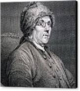 Dr Benjamin Franklin Canvas Print