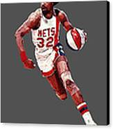 Dr. J Canvas Print by Charley Pallos