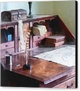 Draftsman - Cartographer's Desk Canvas Print by Susan Savad