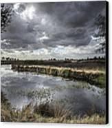 Dramatic Swamp... Canvas Print