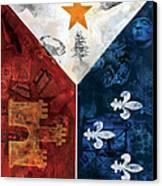 Drapeau Du Acadie Canvas Print