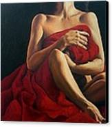 Draped In Red Canvas Print by Trisha Lambi