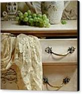 Drawer Of Lace Canvas Print by Diana Angstadt