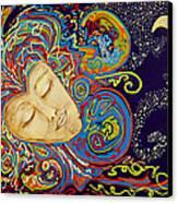Dream Mask Canvas Print by Nickie Bradley
