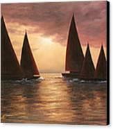 Dream Sails Canvas Print by Diane Romanello