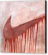 Dripping Nike Canvas Print