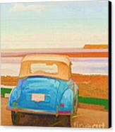 Drive To The Shore Canvas Print by Edward Fielding