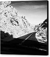 Driving Through Canyons On The White Domes Road Scenic Drive Valley Of Fire State Park Nevada Usa Canvas Print by Joe Fox