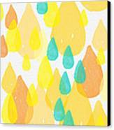 Drops Of Sunshine- Abstract Painting Canvas Print by Linda Woods