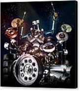 Drum Machine - The Band's Engine Canvas Print by Alessandro Della Pietra