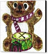 Drummer Teddy Canvas Print