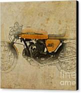 Ducati 750 Sport 1973 Canvas Print by Pablo Franchi