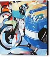 Ducati Line Canvas Print by Guenevere Schwien