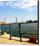 Duluth Docks Canvas Print by Danielle  Broussard
