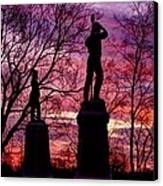 Durell's Independent Battery D And 48th Pa Volunteer Infantry-a1 Sunset Antietam Canvas Print by Michael Mazaika