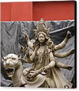Durga In Kumartuli Canvas Print