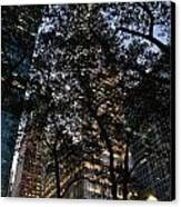 Dusk In Bryant Park Canvas Print by Sherri Quick