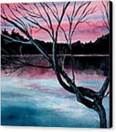 Dusk Lake Arrowhead Maine  Canvas Print