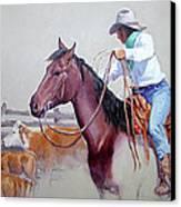 Dusty Work Canvas Print by Randy Follis
