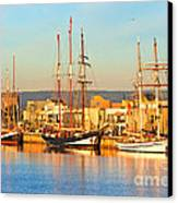 Dutch Tall Ships Docked Canvas Print by Bill  Robinson