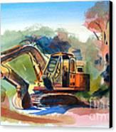 Duty Dozer Canvas Print by Kip DeVore
