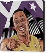Dwight Howard Welcome To The  Lake Show Canvas Print by Israel Torres