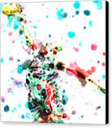 Dwyane Wade Canvas Print by Brian Reaves