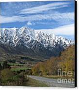 Dynamic Mountains  Canvas Print by  Lines