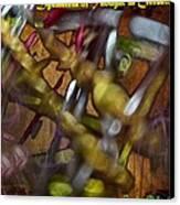 Dysmetria Of Thought In Cerebellar Ataxia 5 Canvas Print by Sandra Pena de Ortiz