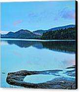 Eagle Lake Maine - Panoramic View Canvas Print by Thomas Schoeller