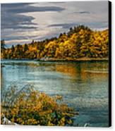 Early Autumn Along The Androscoggin River Canvas Print by Bob Orsillo