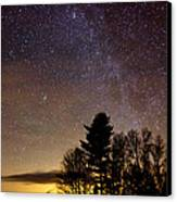 Early Evening Milky Way Canvas Print by Steven Valkenberg