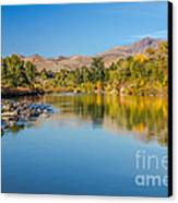 Early Fall On The Payette Canvas Print by Robert Bales