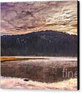 Early Morning Lake Light Canvas Print by Robert Bales