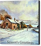 Early Morning Snow Christmas Cards Canvas Print by Andrew Read