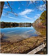 Early Spring On Long Pond Canvas Print