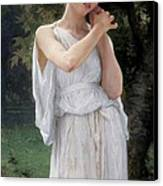 Earrings Canvas Print by William Adolphe Bouguereau