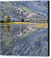 East Rosebud Lake Fall Panorama Canvas Print by Roger Snyder