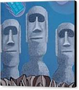 Easter Island Revisited Canvas Print by Anthony Morris