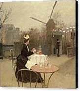 Eating Al Fresco Canvas Print by Ramon Casas i Carbo