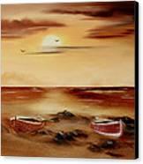 Ebb Tide And Stranded Canvas Print by Cynthia Adams