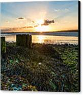 Ebb Tide At Sunset Canvas Print by Trevor Wintle