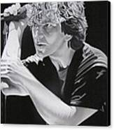 Eddie Vedder Black And White Canvas Print