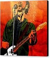 Eddie Vedder-eddie Live Canvas Print by Bill Manson