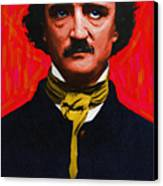 Edgar Allan Poe - Painterly Canvas Print by Wingsdomain Art and Photography