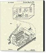 Edison Locomotive 1892 Patent Art Canvas Print by Prior Art Design