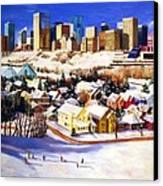 Edmonton In Winter Canvas Print