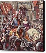 Edward V Rides Into London With Duke Canvas Print