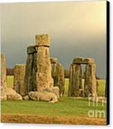Eerie Stonehenge 2 Canvas Print by Deborah Smolinske