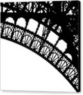 Eiffel Metal Crochet  Canvas Print by Rita Haeussler